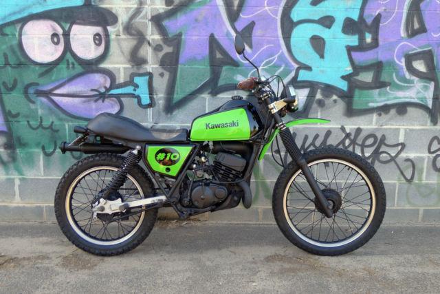 Kawasaki KE175 1981 custom scrambler enduro motorcycle LAMS Learner dirt bike