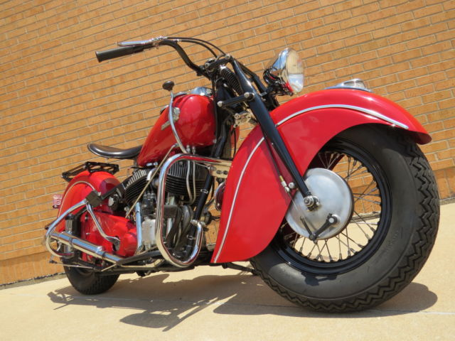 1946 Indian Motorcycle Police Chief bike Restored vintage barn find matching #s