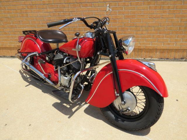 1946 Indian Motorcycle Police Chief bike Restored vintage ...