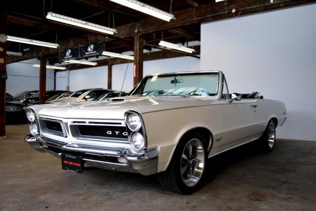 1965 Pontiac GTO Convertible White Restomod Horsepower Hot Rod musclecar