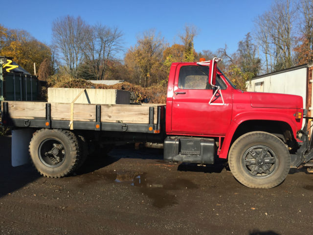 1988 GMC Flatbed with Plow