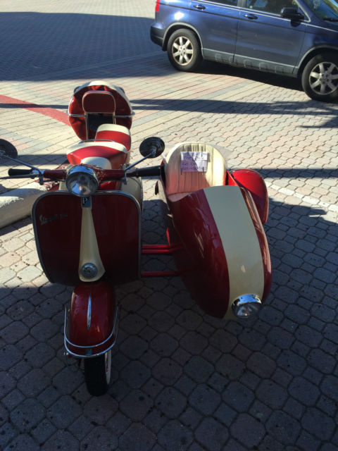 VESPA scooter motorcycle 150cc with sidecar red