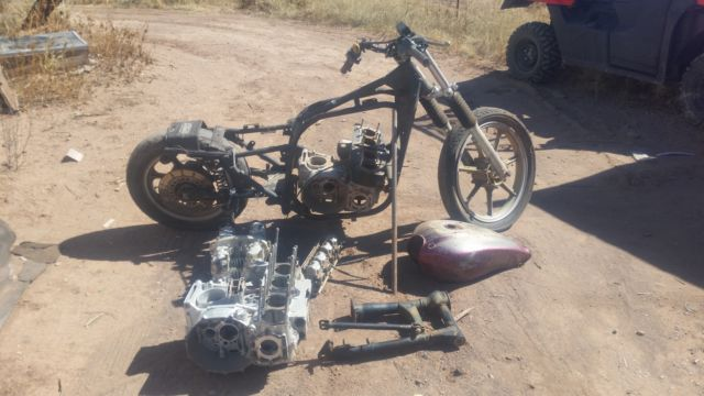 1982 Kawasaki kz100 motorcycle project