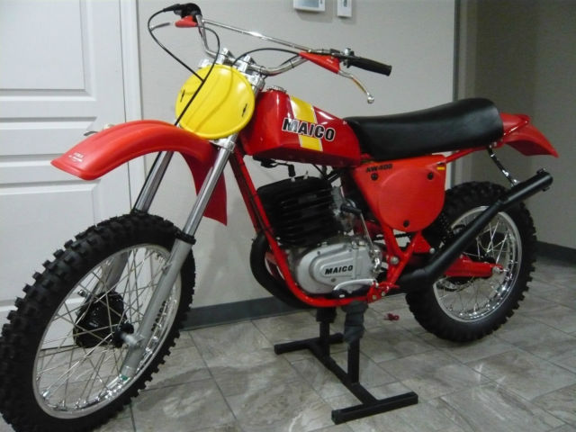1977 Maico AW 400 LOTS OF NOS PARTS INCLUDING FALK PLASTICS