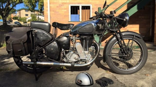 Vintage Matchless Ajs Motorcycle 1939 Not Triumph Harley Vincent Ariel