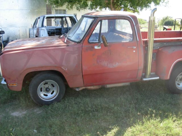 Dodge lil red express truck 1979 model restoration project