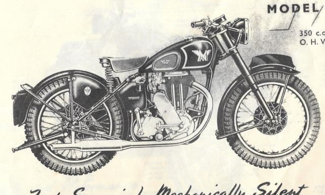 1941 350cc Matchless motor cycle. Model G3-L. All restored parts for reassemle