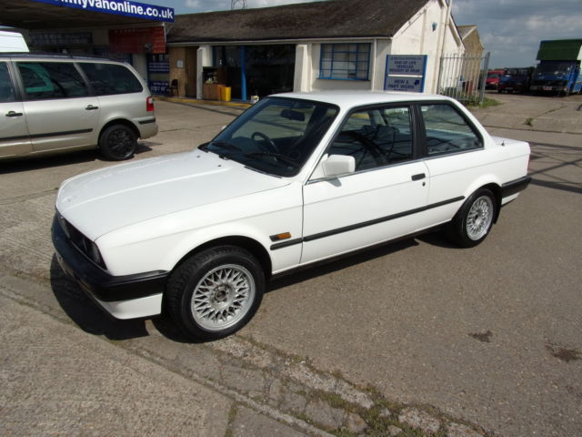 1990 BMW 316I WHITE CLASSIC 2 DOOR COUPE E30 MANUAL SPARES OR REPAIR