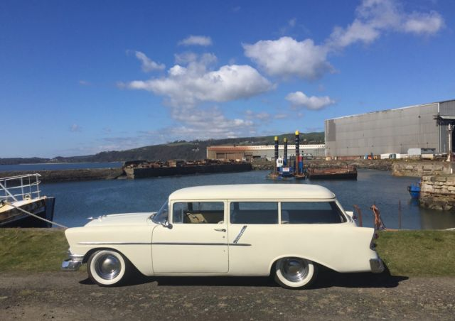 1956 CHEVROLET ONE FIFTY  2 DOOR STATION WAGON 283 V8, CHEVY, rare