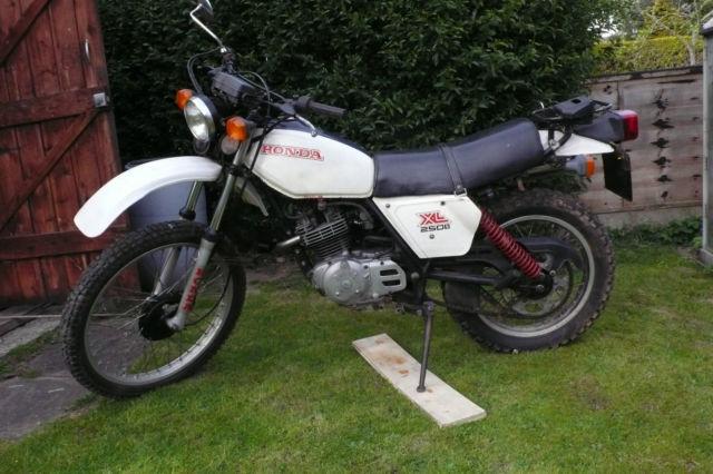 1980 HONDA XL 250  WHITE