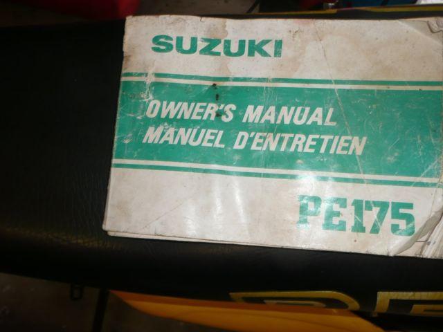 suzuki pe175 1982 full floater for sale east maitland nsw rh automotoclassicsale com Suzuki Rs 175 Suzuki Er125175