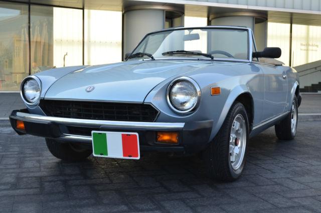 1983 Fiat Spider Azzurra - Pininfarina built flagship - 60K - Ready to Enjoy