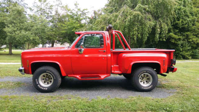 1977 Chevy Truck 4x4, Short Bed, Step Side, Restored 6 Years Ago, 454