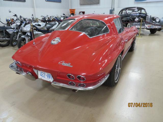 Red Split Window 1963 Original Corvette 327 Four speed manual