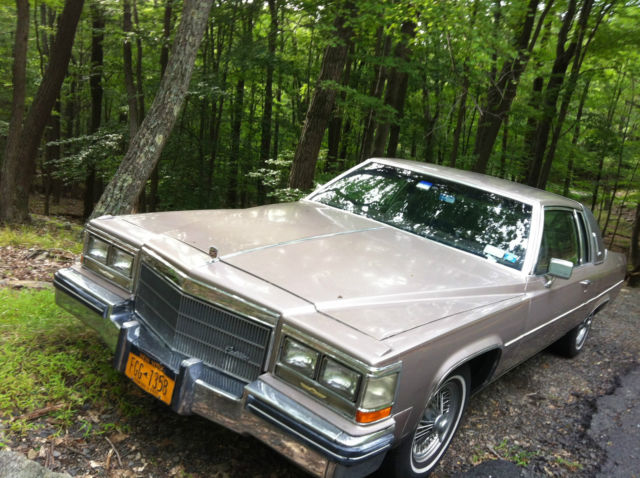 Coupe Deville, Champagne Color, Brown Leather interior