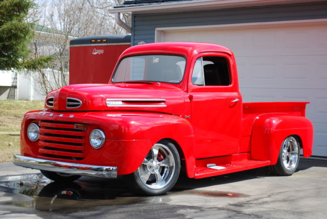 FORD  F1 Pickup 1950, Fuel Injected 4.6L V8, 5 SPEED, Vintage A/C F-100, F-150