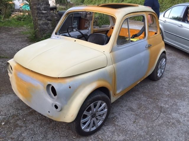 FIAT 500 L BIKE ENGINED CBR 600! RHD Classic runs & drives! hill climb track car