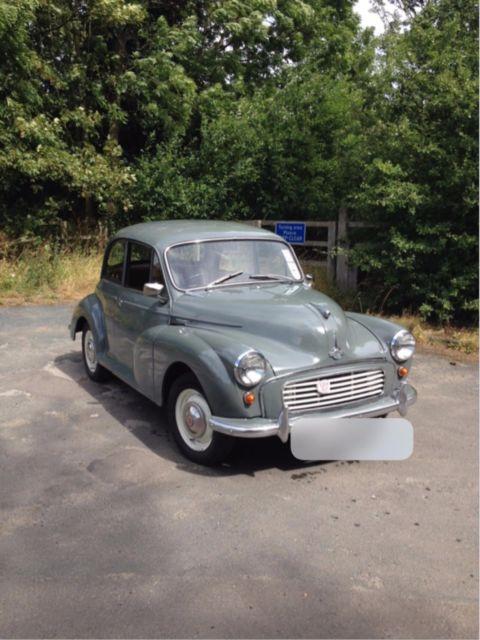1961 Morris Minor 1000 Classic car 948cc 68k miles 3 Door Grey