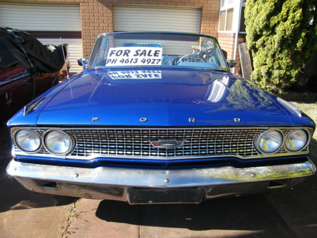 1963 FORD GALAXIE 500 CONVERTIBLE, REBUILT ALL BUT UPHOLSTERY COMPLETED, NO RUST