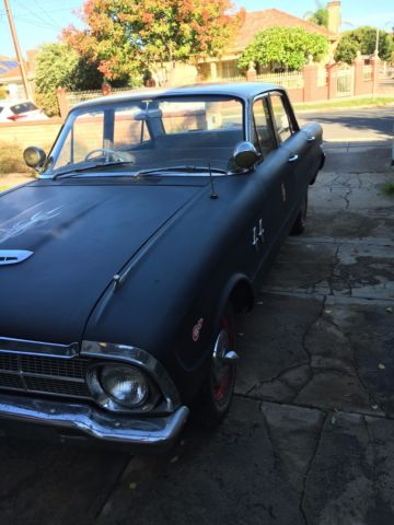 1964 XM Ford Falcon Deluxe Rat Rod, Black and Cream - NO