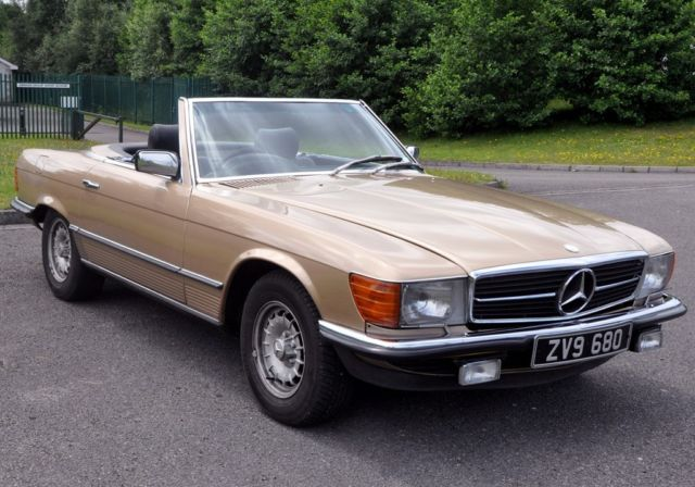 1980 Mercedes-Benz 380SL R107 V8 Auto, Gold, Leather and Both tops. Excellent.