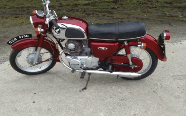 Honda CD175 1975 Candy Red - Project Bike, read description.