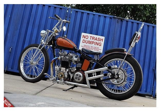 1956 Triumph Tiget T110 Chopper