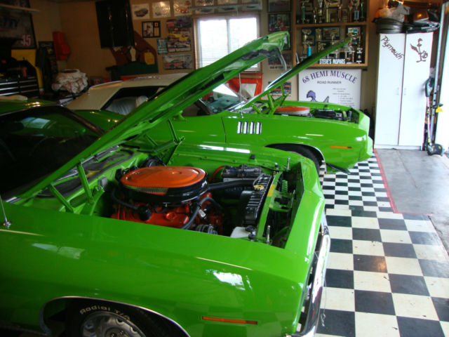 1970  Plymouth  Cuda  340 4 speed GO GREEN