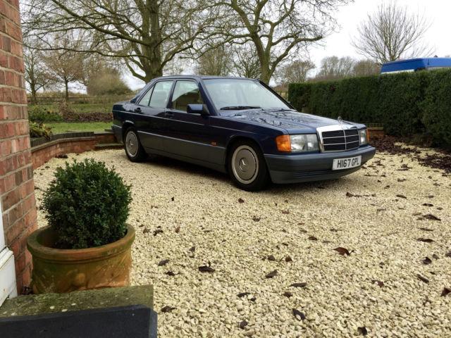 1990 MERCEDES 190E AUTO BLUE W201 NAUTIC CLASSIC