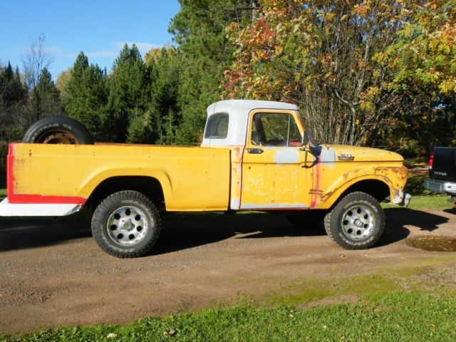 1964 ford pickup F100 factory 4X4 Org, 55000 miles numbers matching