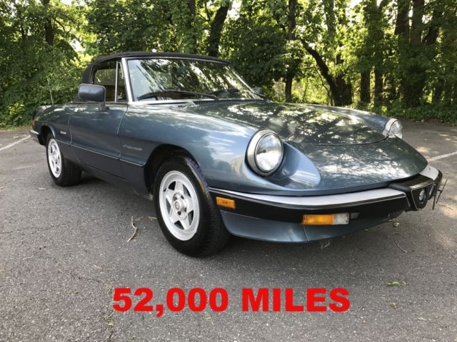 1988 ALFA ROMEO SPIDER VELOCE * LOW MILES * DON'T MISS THIS CAR