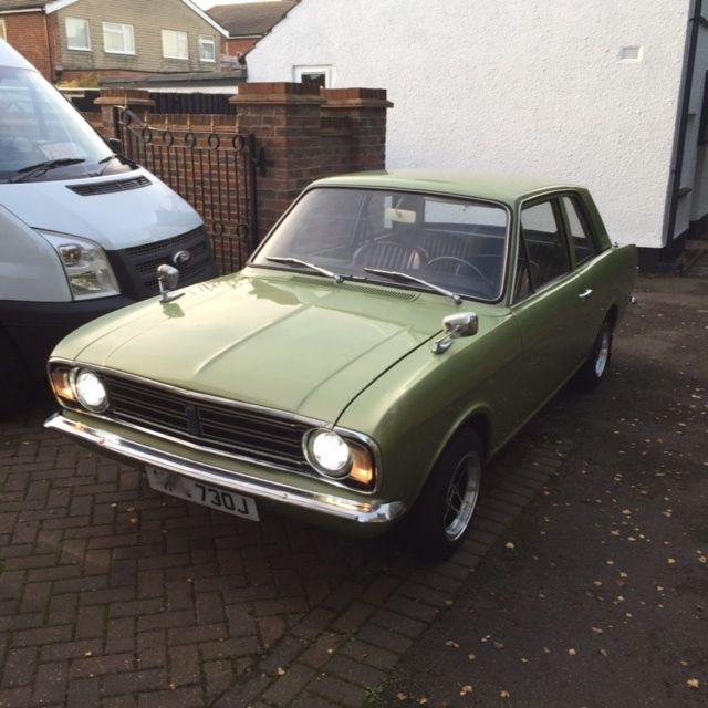 1970 CORTINA 1600 DELUXE 2 DOOR LHD STUNNING RUST FREE CONDITION MOT 06/18