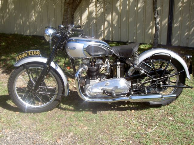 1946 tiger 100 rigid triumph motorcycle