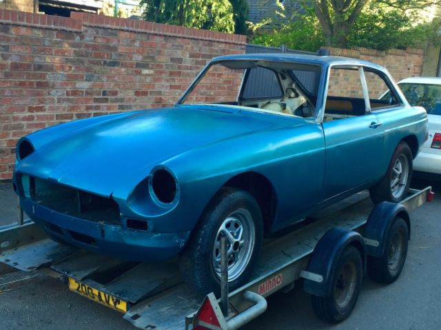 1973, MGB GT, ROLLING BODYSHELL WITH V5, TAX EXEMPT, UNFINISHED PROJECT