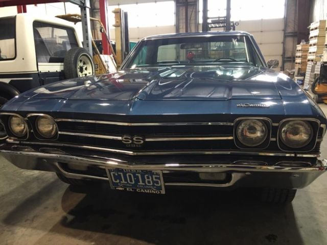 1969 Chevrolet El Camino SS 396 #s matching 350HP Canadian Documented Real Deal