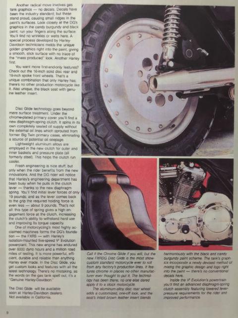 Rare 1984 Harley-Davidson FXRDG Disc Glide Only 863 produced