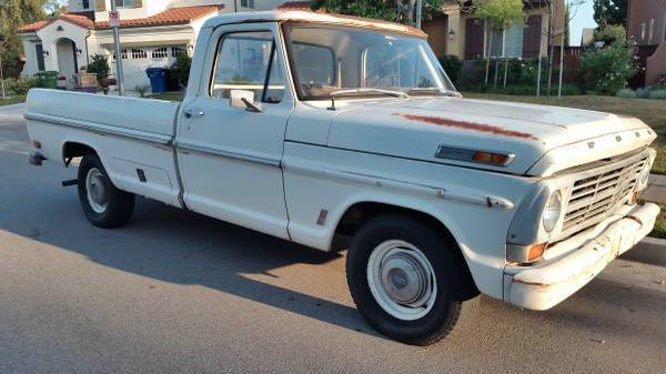 Beautiful classic 1969 Ford 390 V8 255bhp long bed pick up truck