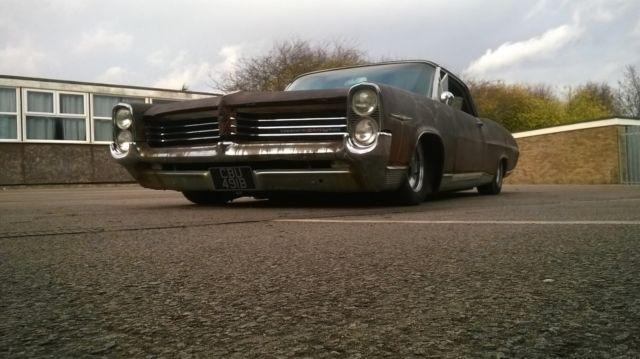 64 Pontiac Bonneville lowrider 2 door pillarless rat rod hot rod v8