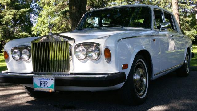 Historic 1980 Rolls Royce Silver Wraith II - left hand drive 4-door limousine