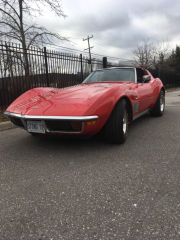 1972 Corvette Stingray Coupe, Matching numbers, body-off restoration