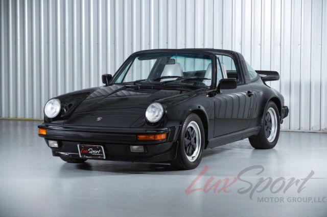 1988 Porsche 911 Carrera Targa Black/Grey 5-Speed, Serviced, 100% Original 82k