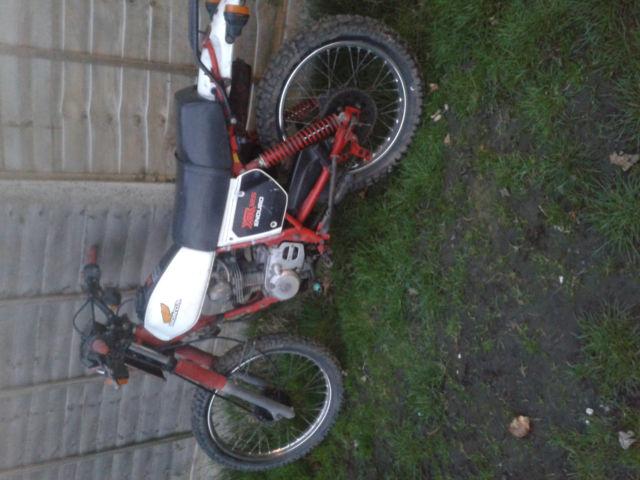 honda 125 XR scrambler 1980's