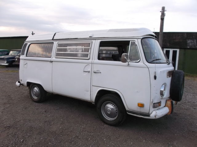 1972 VW BAY WINDOW WESTFALIA POP TOP CAMPER VAN BUS BUS ORIGINAL PAINT RUST FREE
