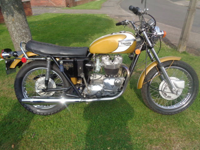 1972 Triumph Bonneville T120RV 5 Speed 650cc - Matching Numbers - 6200 miles
