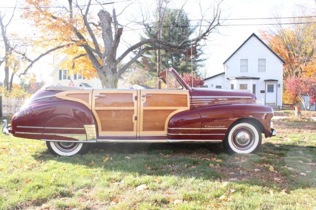 1947 chevy custom 4 door woody convertible