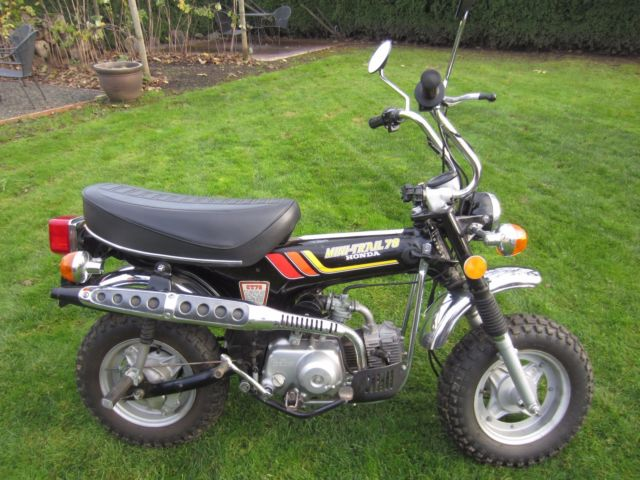 1978 HONDA TRAIL 70 MOTORCYCLE w/low miles & CLEAR TITLE