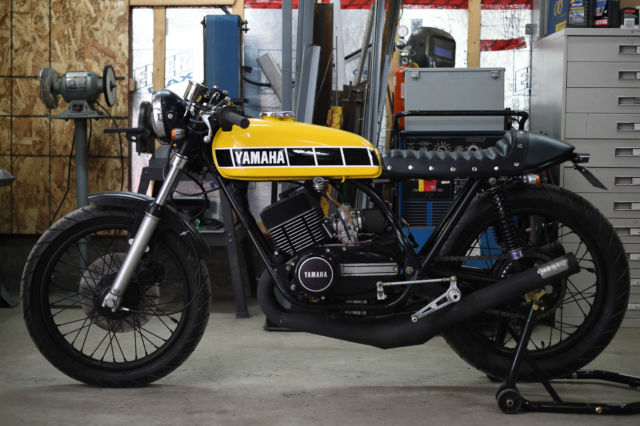 Superb near mint 1973 RD350 Cafe Racer with less than 900km