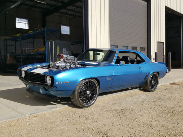 1969 Chevrolet Camaro, 496ci BBC, Blown and Injected, Tremec 6sp, Pro Touring