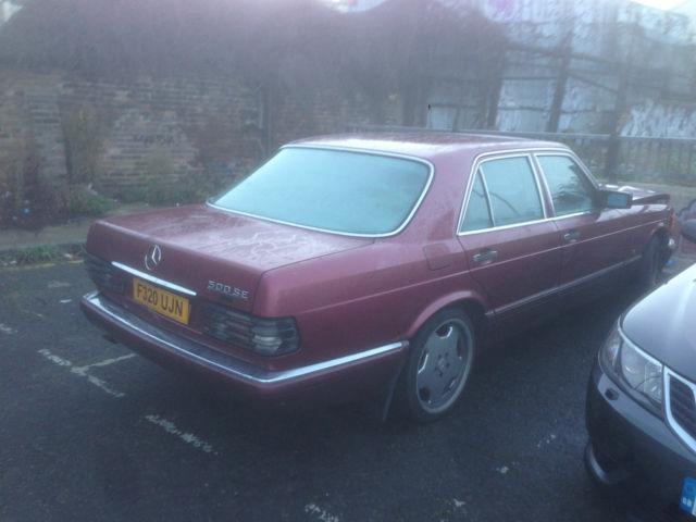 1989 MERCEDES 500 SE AUTO RED DAMAGED