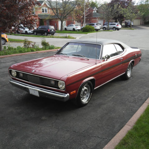 1972 Plymouth Duster 318ci - originally sold in Switzerland as Chrysler Valiant